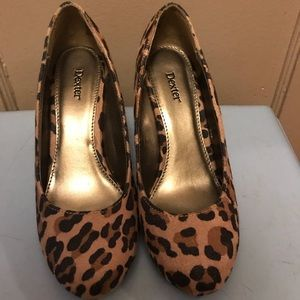Cute leopard wedges. New